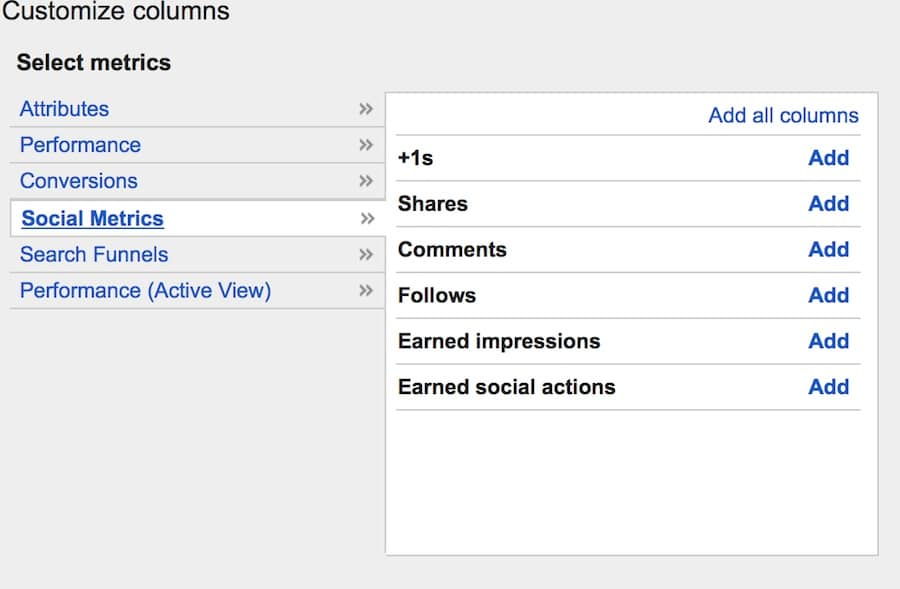 adwords social