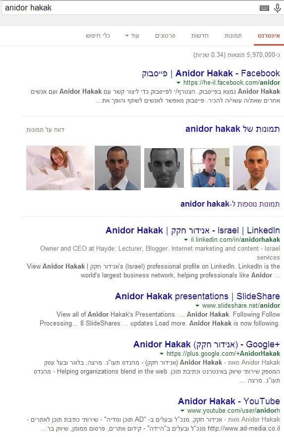 Anidor Hakak english search on google
