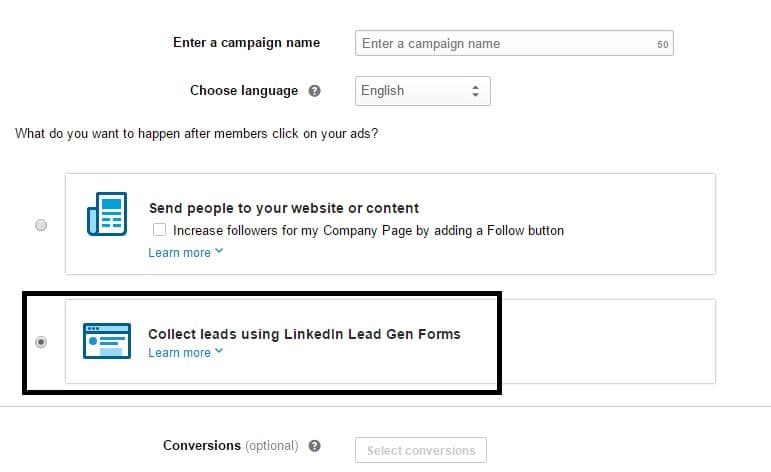 lead ads linkedin
