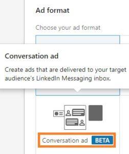 conversation ads beta