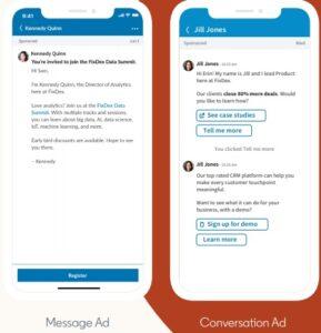 message convesation ads